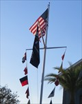 Image for Nautical Flag Pole - Disney Springs - Orlando, Florida, USA.