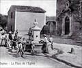 Image for La fontaine et l'église Saint-Jacques - Rognac, France