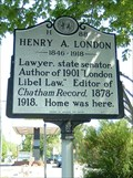 Image for Henry A. London, Marker H-88