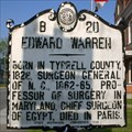 Image for Edward Warren, Marker B-20