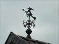 Image for Witch on Broom Weathervane in Bengen - RLP / Germany