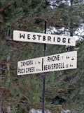 Image for Westbridge Distance Sign - Westbridge, British Columbia