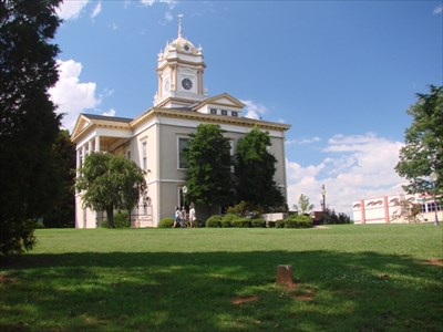 Burke County Court House, with South Meridian in foreground.