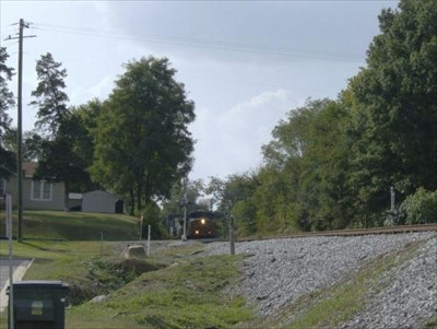 This is the northbound heading back onto the mainline.