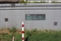 Image for Zwei Hochwassermarken an Hochwasserschutzmauer Rheidt - Niederkassel-Rheidt, Germany