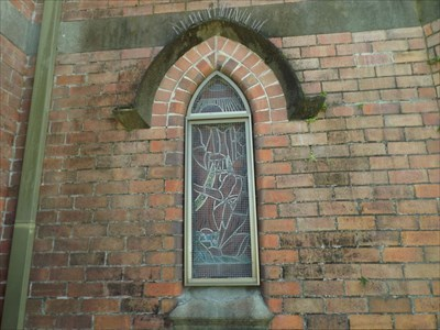 The Stained Glass Window, in the Bell Tower.Outside view.1105, Sunday, 29 October, 2017