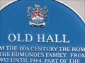 Image for Old Hall - Blue Plaque - Cowbridge, Vale of Glamorgan, Wales.