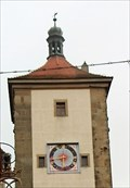 Image for Uhr (Norden) / Clock (North) Sieberstorturm - Rothenburg ob ter Tauber, Bavaria, Germany