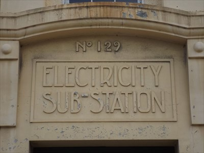 Close up of the original signage.