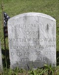 Image for Matthew Griswold - Central Cemetery - East Granby, CT.