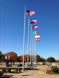 Image for Texas Travel Information Center Flag Display - Denison, Texas, USA