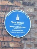Image for Vera Brittain - Newcastle-under-Lyme, Staffordshire, UK.