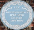 Image for William Hazlitt - Frith Street, London, UK