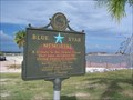 Image for S. Beach Blvd Blue Star Memorial Hwy Marker - Waveland, Mississippi