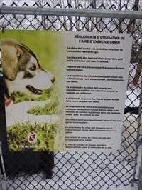 Dog park regulations