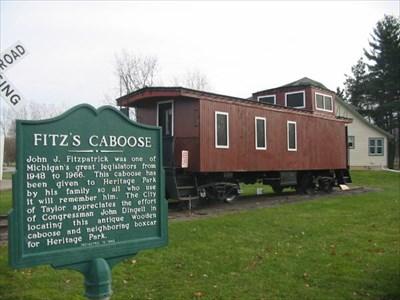 Fitz's Caboose - Heritage Park - Taylor, MI  - Train