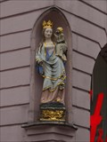 Image for Virgin Mary with infant Jesus at the Walderdorff Palace, Domfreihof 1,Trier - Rheinland-Pfalz / Germany