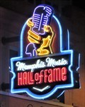 Image for Memphis Music Hall Of Fame - Neon - Memphis, Tennessee, USA.