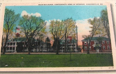 Main buildings post card displayed on marker