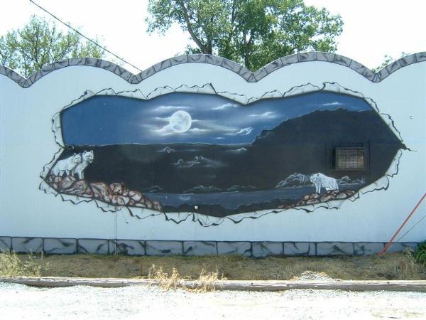 Blue moon mural hamburg iowa murals on for Blue moon mural