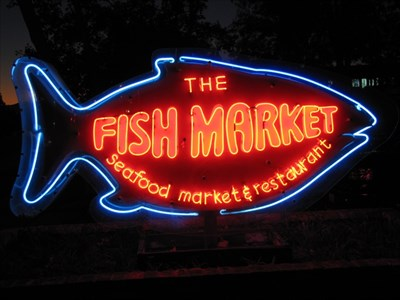 the fish market san jose ca neon signs on