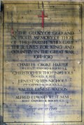 Image for Broughton Church Memorial and Roll of Honour,Bucks