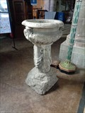 Image for Medieval Baptismal Font - St Mary the Virgin Church, Ross on Wye, Herefordshire, UK