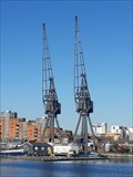 Image for Two Dockside Cranes - Millwall Docks, London, UK