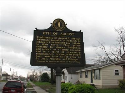 8th of August - Paducah, Kentucky - Kentucky Historical Markers on Waymarking.com