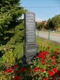 Image for Pomník obetem I. svetové války - Kocelovice  okres Strakonice, CZ