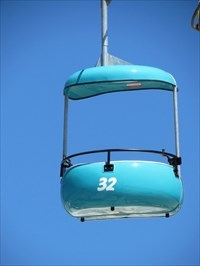 Sky Glider, Blue Gondola, Santa Cruz, California