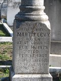 Image for Martin Levy - Chevra-Thilim Cemetery - New Orleans, LA