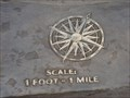 Image for Mount Greylock Topographic Display Compass Rose - Adams, MA