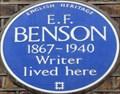 Image for E F Benson - Brompton Square, London, UK