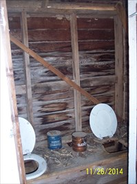 Outhouse at Carney Cemetery, by MountainWoods