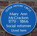 Image for Mary Ann McCracken - Donegall Pass, Belfast, UK