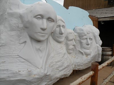 Washington in Mt Rushmore Replica
