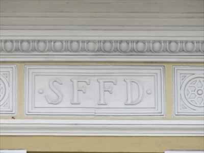 SFFD Letters at Building Top, San Francisco, CA