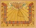 Image for Church's sundial, Kientzheim, Haut-Rhin, Alsace/FR