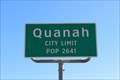 Image for Quanah, TX - Population 2641
