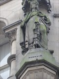 Image for Monarchs – King Henry II of England on side of city hall - Bradford, UK