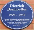 Image for Dietrich Bonhoeffer - Goulston Street, London, UK