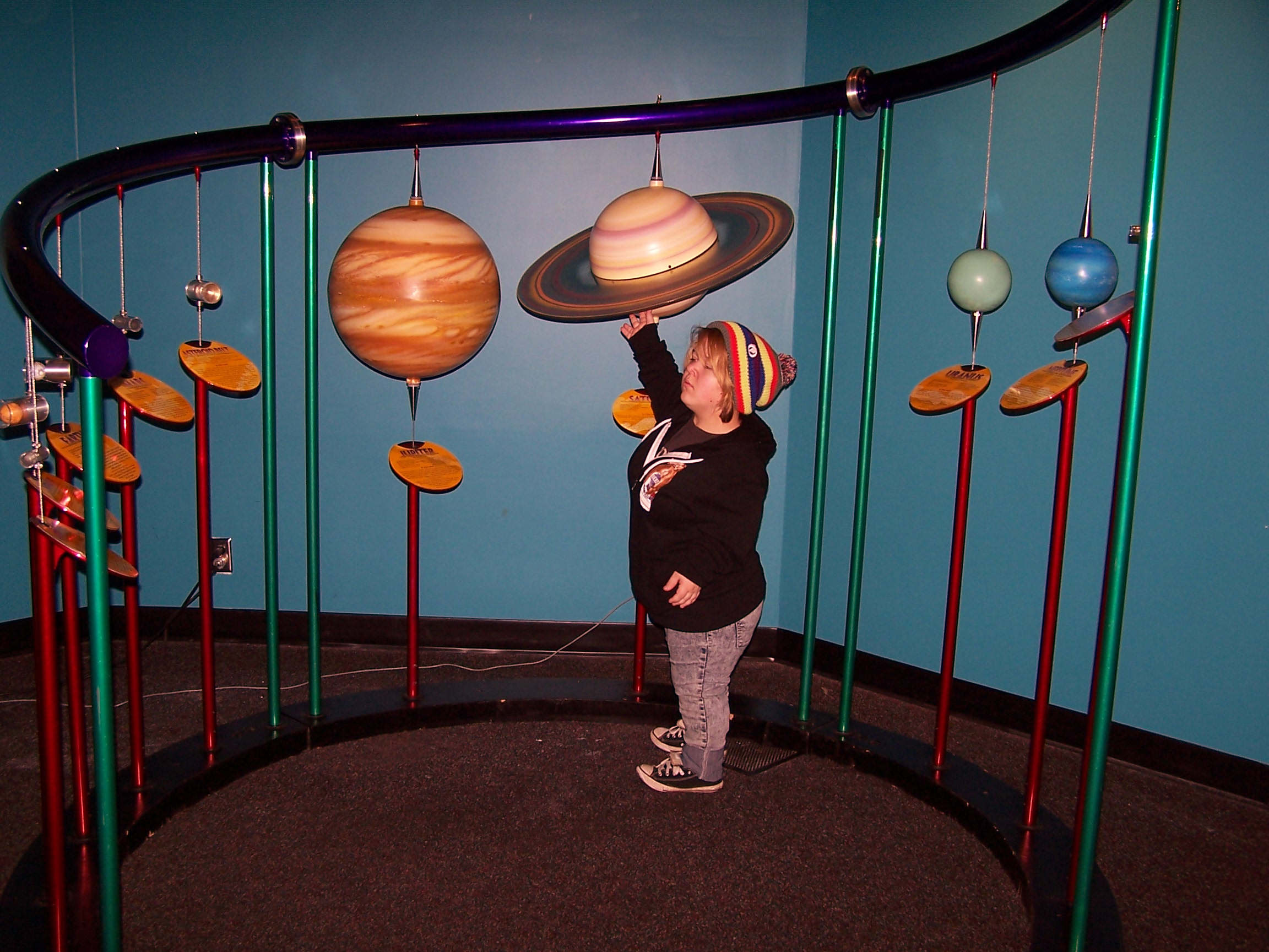 Pacific Science Center - 3d solar system model Image