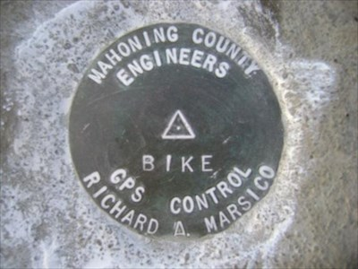 This is a Mahoning County Engineer GPS Control Disk.