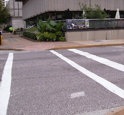 You can also see a second Toynbee Tile in this photo, across the street.