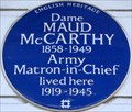 Image for Dame Maud McCarthy - Markham Square, London, UK