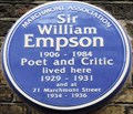 Image for Sir William Empson - Marchmont Street, London, UK