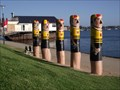 Image for Western Beach Bathers Bollards - Geelong Waterfront, Victoria, AU
