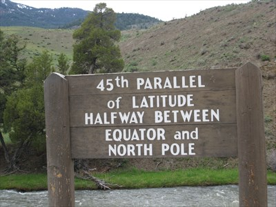 Th Parallel Of Latitude Montana USA Great Lines Of Earth On - 45th parallel map us