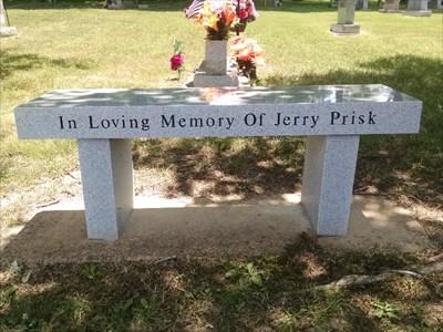 Jerry Prisk dedicated bench, by MountainWoods